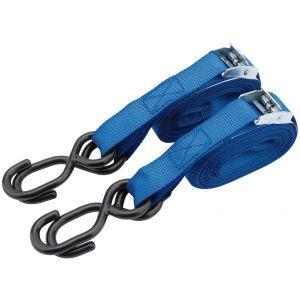 Draper - 125kg Ratcheting Tie Down Strap Sets (5.0M x 25mm) (2 Piece)