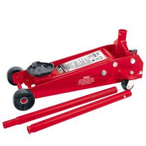 Draper - 3 tonne Red Heavy Duty Garage Trolley Jack