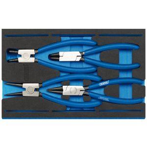 Draper - Circlip Plier Set in 1/4 Drawer EVA Insert Tray (4 Piece)
