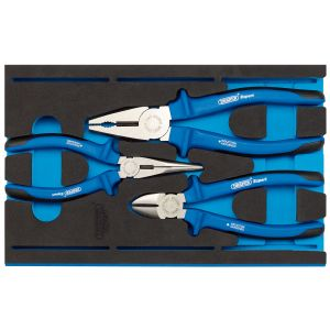Draper - Heavy Duty Plier Set in 1/4 Drawer EVA Insert Tray (3 Piece)