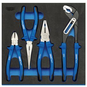 Draper - Heavy Duty Plier Set in 1/2 Drawer EVA Insert Tray (4 Piece)