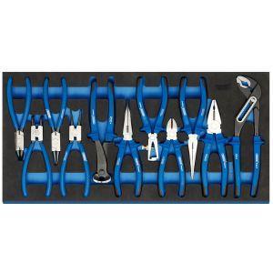 Draper - Heavy Duty Plier Set in Full Drawer EVA Insert Tray (11 Piece)