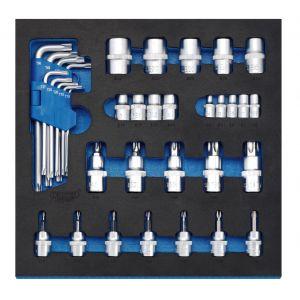 Draper - Screwdriver Insert Bits and Draper TX-STAR® Keys in 1/2 Drawer EVA Insert Tray (35 Piece)