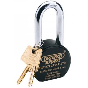 Draper - 63mm Heavy Duty Stainless Steel Padlock and 2 Keys
