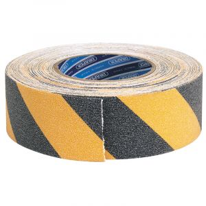 Draper - 18M x 50mm Black and Yellow Heavy Duty Safety Grip Tape Roll
