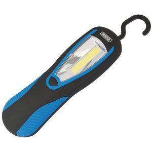 Draper - 3W COB LED Magnetic Work Light - 100 Lumens (3 x AAA Batteries Supplied).