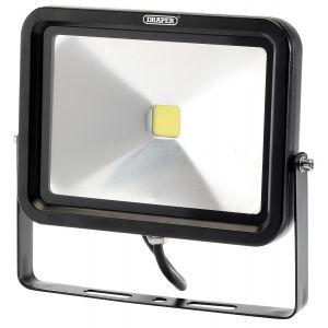 Draper - 50W COB LED Slimline Wall Mounted Floodlight - 3,250 Lumens