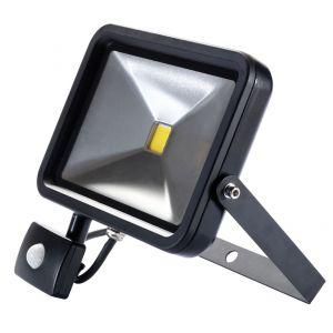 Draper - 30W COB LED Slimline Wall Mounted Floodlight with PIR Sensor - 1,950 Lumens