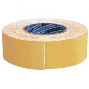 Draper - 18M x 50mm Yellow Heavy Duty Safety Grip Tape Roll