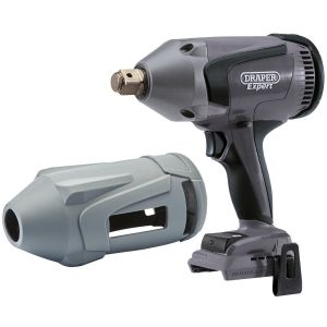 """Draper - XP20 Brushless 3/4"""" Impact Wrench 1060Nm (Bare) + Protective Rubber Sleeve"""