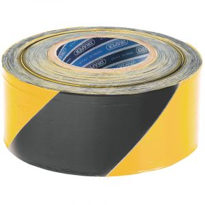 Draper - 500M x 75mm Black and Yellow Barrier Tape Roll