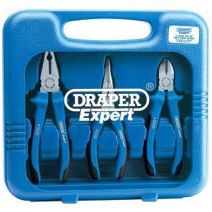 Draper - Heavy Duty Soft Grip Pliers Set (3 Piece)