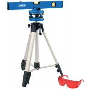 Draper - 400mm Laser Level Kit with 360° Swivelling Tripod