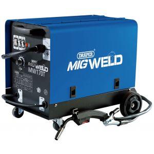 Draper - 230V Gas/Gasless Turbo MIG Welder (160A)