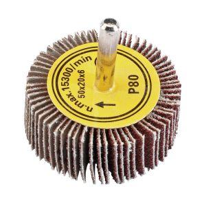 Draper - Abrasive Flap Wheel (50mm x 20mm 80 Grit)