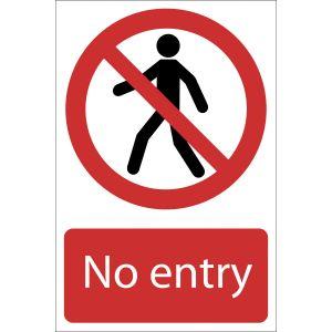 Draper - No Entry' Prohibition Sign
