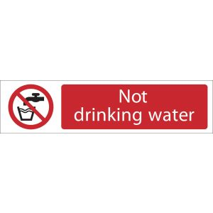 Draper - Not Drinking Water' Prohibition Sign