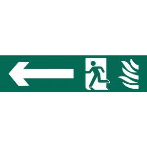 Draper - Running Man Arrow Left' Safety Sign