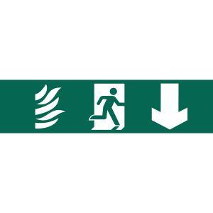 Draper - Running Man Arrow Down' Safety Sign