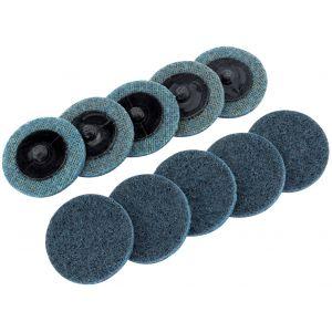 Draper - Ten 50mm Polycarbide Abrasive Pads (Fine)
