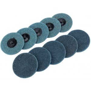 Draper - Ten 75mm Polycarbide Abrasive Pads (Fine)