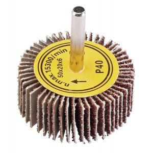 Draper - Abrasive Flap Wheel (50mm x 20mm 40 Grit)