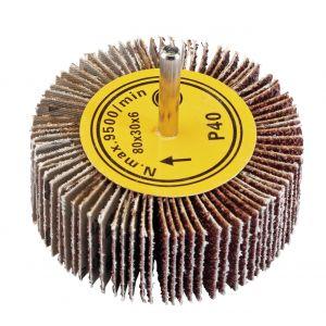 Draper - Abrasive Flap Wheel (80mm x 30mm 40 Grit)