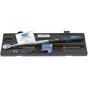 """Draper - 1/2"""" Sq. Dr. Electronic Precision Torque Wrench 68-340Nm with RS232 and USB Interface"""