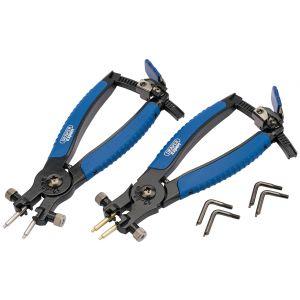 Draper - Soft Grip Ratcheting Internal and External Circlip Pliers (2 Piece)