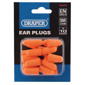 Draper - Ear Plugs (Pack of 10 Pairs)