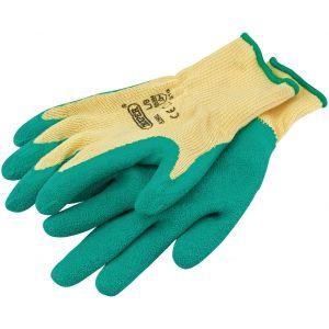 Draper - Green Heavy Duty Latex Coated Work Gloves - Large