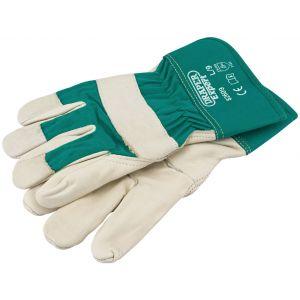 Draper - Premium Leather Gardening Gloves - L