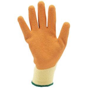 Draper - Orange Heavy Duty Latex Coated Work Gloves - Large
