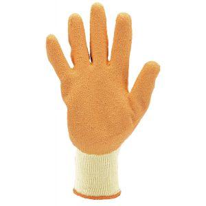 Draper - Pack of Ten, Orange Heavy Duty Latex Coated Work Gloves - Extra Large