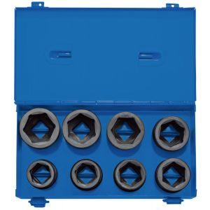 "Draper - 3/4"" Sq. Dr. Metric Impact Socket Set in Metal Case (8 piece)"