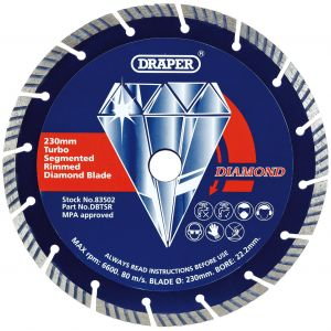 Draper - 230 x 22.2mm Segmented Diamond Blade