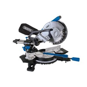 Draper - 210mm Sliding Compound Mitre Saw with Laser Cutting Guide (1500W)