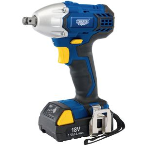 """Draper - 18V Cordless 1/2"""" Sq. Dr. Impact Wrench With LI-ION Battery"""