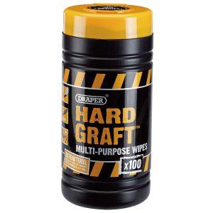 Draper - Draper 'Hard Graft' Wipes (Tub of 100)