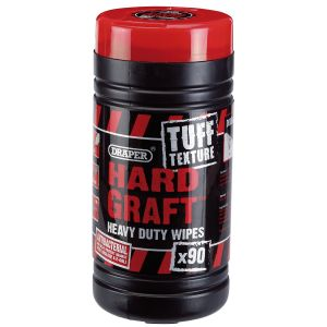 Draper - Tuff Texture, 'Hard Graft' Heavy Duty Wipes (Tub of 90)