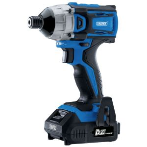 """Draper - D20 20V Brushless 1/4"""" Impact Driver with 2x 2.0Ah Batteries and Charger (180Nm)"""