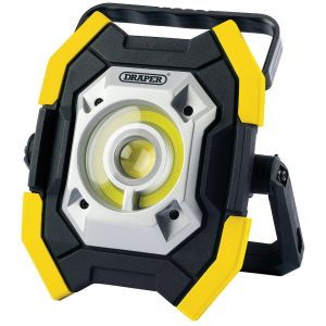 Draper - Twin COB LED Rechargeable Work Light (Yellow)