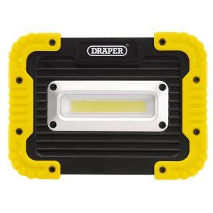 Draper - 10W COB LED Work Light - 700 Lumens (4 x AA Batteries Supplied)