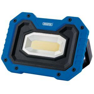 Draper - 5W COB LED Work Light - 500 Lumens (Blue, 4 x AA Batteries Supplied)