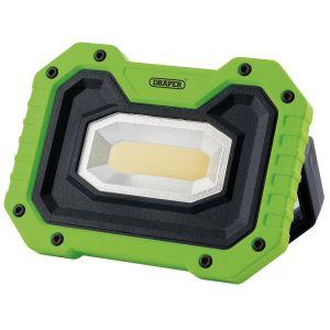 Draper - 5W COB LED Work Light - 500 Lumens (Green, 4x AA Batteries Supplied)