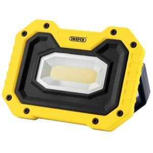 Draper - 5W COB LED Work Light - 500 Lumens (Yellow, 4x AA Batteries Supplied)