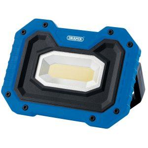 Draper - 5W COB LED Rechargeable Work Light with Wireless Speaker (Blue)