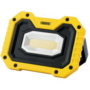Draper - 5W COB LED Rechargeable Work Light with Wireless Speaker (Yellow)