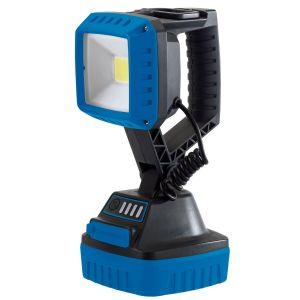Draper - 10W COB LED Rechargeable Work Light - 1,000 Lumens (Blue, 4x 2.2 Ah Li-ion Batteries Supplied)