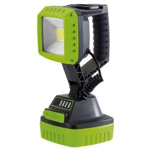 Draper - 10W COB LED Rechargeable Work Light - 1,000 Lumens (Green, 4x 2.2 Ah Li-ion Batteries Supplied)